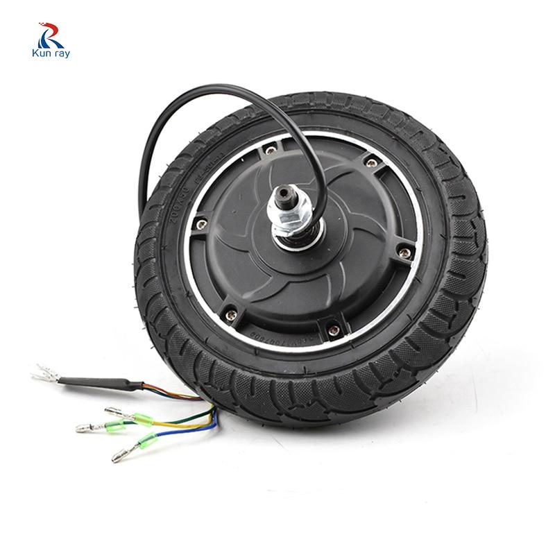8Inch 24V 36V 48V 350W Elektrische E-roller conversion kit Rad Bürstenlosen Zahnlos E bike Motor Rad Motor Roller Kit