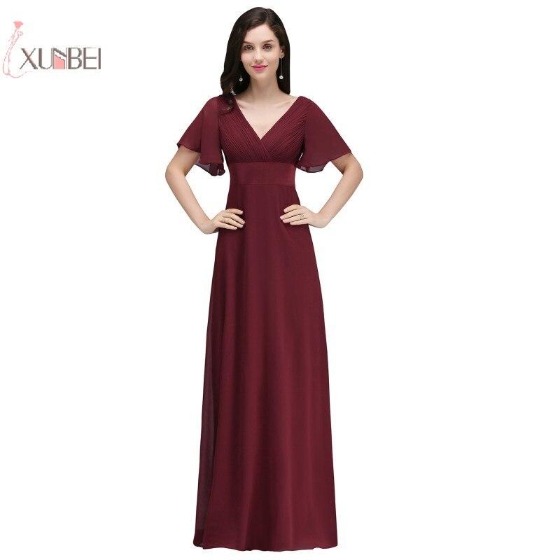 2019 Neuer Stil Plus Größe Chiffon Lange Prom Kleid V-ausschnitt Elegantes Abendkleid Vestidos De Festa Longo Neue Reisen