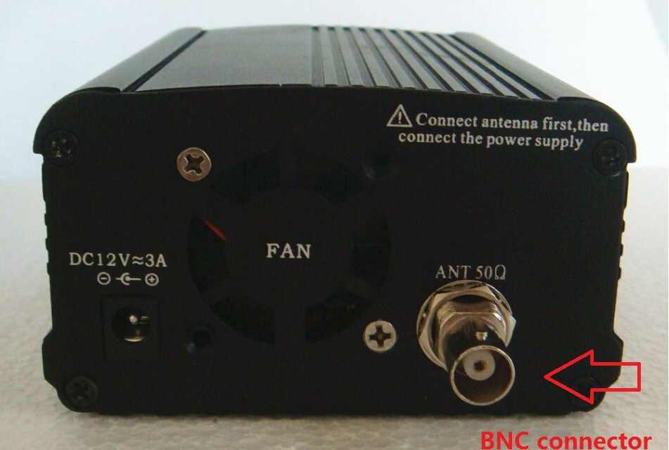 2019 NOUVEAU! 1/ensemble 1 W/7 W FM stéréo diffusion radio FM émetteur station audio convertisseur intégré PLL fréquence + petite antenne