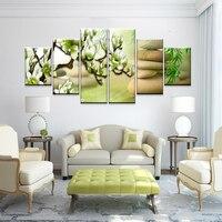Primavera flores de magnolia pintura al óleo decorativa impresión de lienzo de pared carteles de arte del adorno del hogar gran imagen arquitectónica