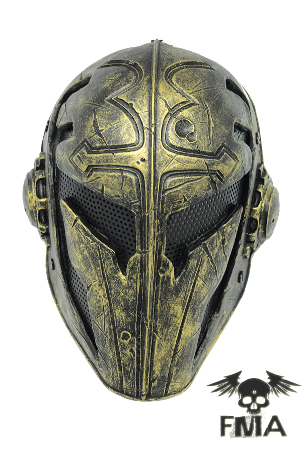 Outdoor Paintball Airsoft Full Face Protection Goldf Templar Mask Helmet Cosplay TB563 face mask free shipping outdoor green paintball airsoft wire mesh full face protection templar mask cosplay wargame gear helmet free shipping