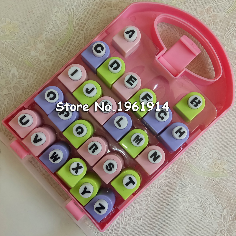 26 anglais lettre/Alphabet artisanat perforateur ensemble Scrapbook à la main perforateurs coupe-papier livraison gratuite