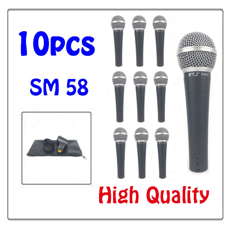 Free Shipping Professional Version SM 58 58LC Vocal Karaoke Handheld Dynamic Wired Microphone Real Transformer Inside