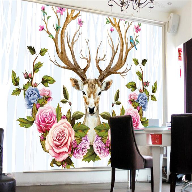 3D Modern Flowers Wallpapers For Walls 3D Wall Murals Photo Wallpapers For Living Room Home Decorative Blue Florals Elk Murals