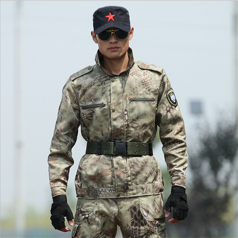 2017 Spring Autumn American ACU Military Sets Tactical Army Military uniform combat jackets+ pants Snakeskin Military Suits 4XL