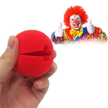 50pcs/lot red Clown Nose Sponge Ball for Halloween Masquerade Kids creative funny toy Costume Party Clowns Play Props