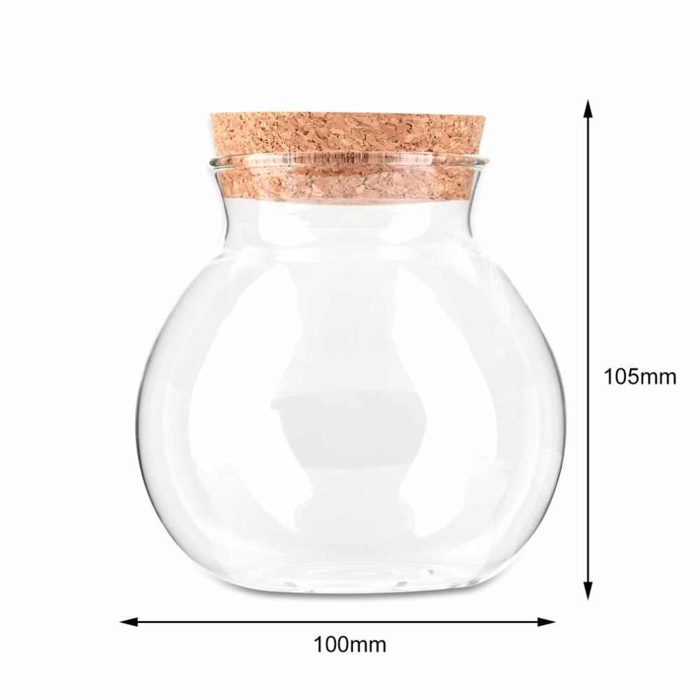 Новейшие поступления милый дизайн чай кофе сахар Стеклянные Канистры цветок ваза для цветов горшок для оформления дома вечерние прозрачные красоты