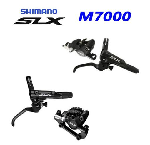 shimano SLX M7000 bike bicycle Hydraulic Disc Brake Set MTB Front & Rear with J02A Resin ICE Cold Pads m675 upgrade economic bicycle brake pads black 4 pcs