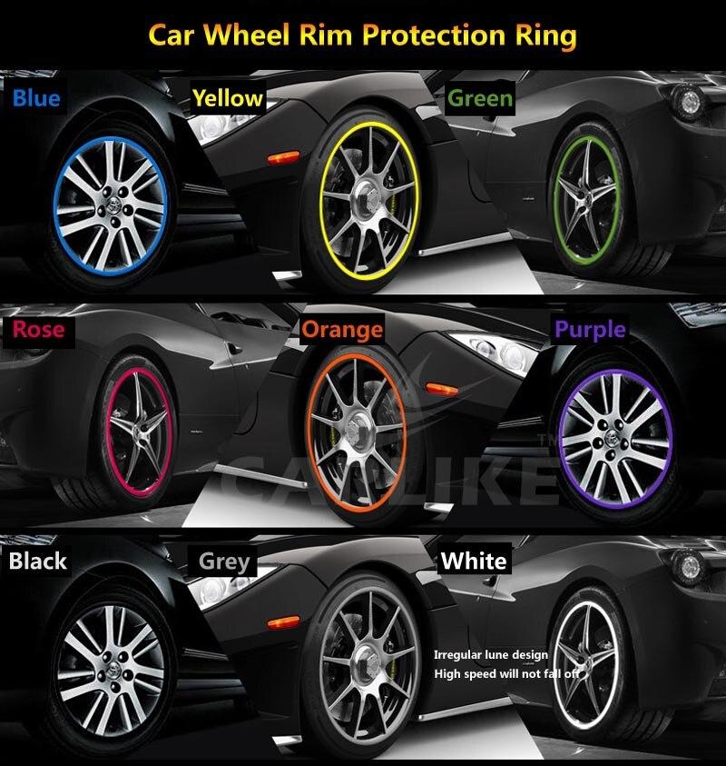 Color Wheel Rim Protector Tire Guard PVC Molding Trim Scratch ...