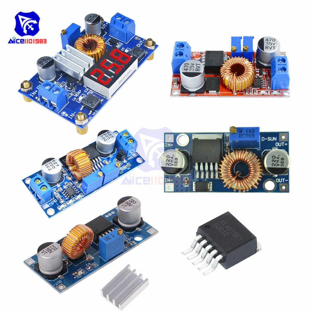 Xl4015 max 5a 75 w cc/cv dc 4-38 v a 1.25-36 v ajustável step down buck boost conversor módulo de fonte de alimentação para arduino
