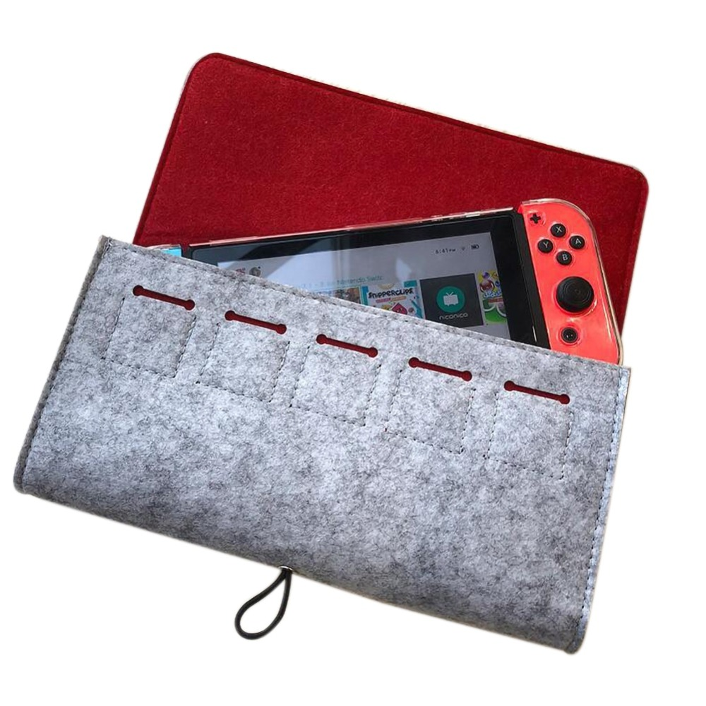Storage Case Bag for Nintendos Switch Console Durable Carrying Case for Nintend NS Switch Game Console Felt Bag