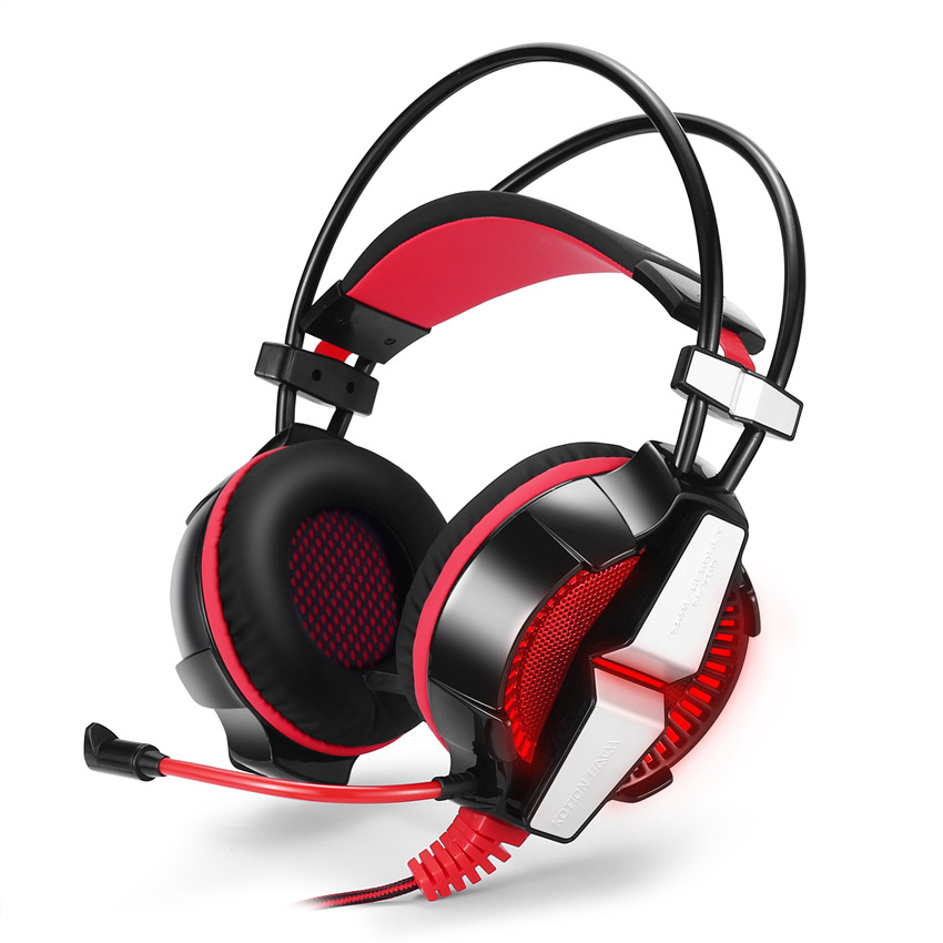 Gaming Headset Gamer Adjustable Headband Headphones Gamer with Microphone LED Stereo Deep Bass Headphones for Laptop Notebook led bass hd gaming headset mic stereo computer gamer over ear headband headphone noise cancelling with microphone for pc game