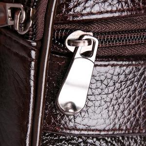 Image 4 - HUANILAI Men Bags Messenger Bags  Fashion Business Shoulder Bags For Men Genuine Leather Bags High Capacity Handbags TY006