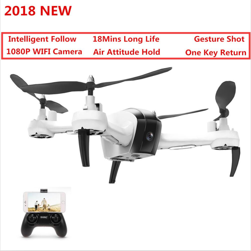 2018 New Intelligent Follow WIFI FPV RC Drone Helicopter Gesture Shot 1080P HD camera Air Attitude Hold quadcopter vs X183 X8 2018 New Intelligent Follow WIFI FPV RC Drone Helicopter Gesture Shot 1080P HD camera Air Attitude Hold quadcopter vs X183 X8