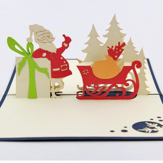 funny santa claus con tarjetas de regalo de navidadd popup de tarjetas
