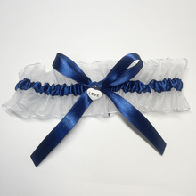 New Navy Blue White Wedding Garter Bridal Garter Handmade Bowknot Garters