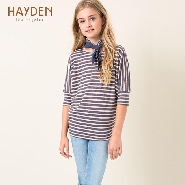 0a58a6b0f Hayden niñas raya tamaño 6 8 12 14 años 2017 adolescente Niñas Ropa niños  ropa otoño