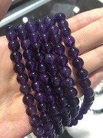 天然石紫カラーアメジスト8ミリメートルラウンドビーズルースビーズ用diyのジュエリー15インチ/37セン