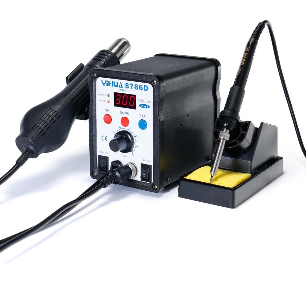YIHUA 8786D Hot Air Digital Soldering Station for Phone and Laptop Chip Soldering 17