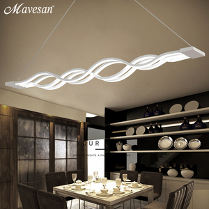 Image 2 - Dinning Room Pendant Lights Led modern for dinning room Acrylic+Metal suspension hanging ceiling lamp home lighting for Kitchen