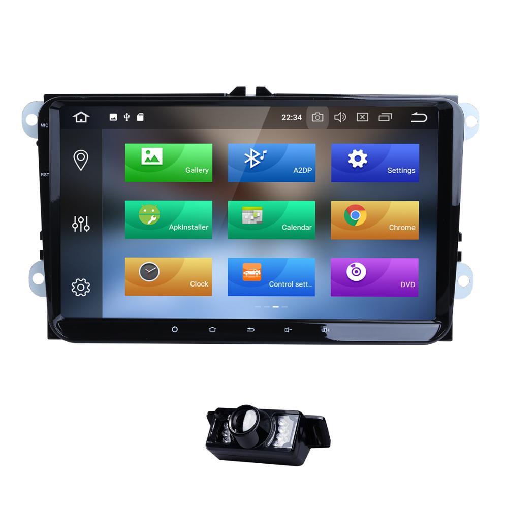 Deux Din Voiture Lecteur Multimédia Android 9.0 Auto Radio Pour Skoda/Siège/Volkswagen/VW/Passat b7/POLO/GOLF 5 6 NODVD GPS 8 Noyaux 4 + 32