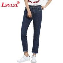 Женские джинсы большого размера прямые брюки больших размеров s Джинсы бойфренда белые края ретро брюки для женщин с кисточками Весна B936