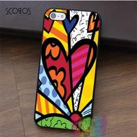 ROmeo Romero Britto Cat Dog Love Art Fashion Cell Phone Case For Iphone 4 4s 5