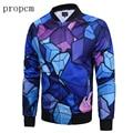 2017 New Fashion Mens Jackets Blue Print Bomber Jacket Coats Tactical Men Plus Size Long Sleeve Streetwear Autumn Man Cube