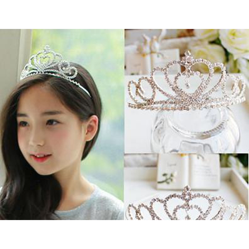 Valentines Day Princess Crown Bride Pageant Crowns Hair Comb Ornaments Jewelry Queen Diadem Wedding Bride King Headband