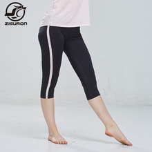 Women 3/4 Leggings Compression Sports Tights Sweat Pants Jogging Trousers Running Gym Quick Dry Fitness pants E302