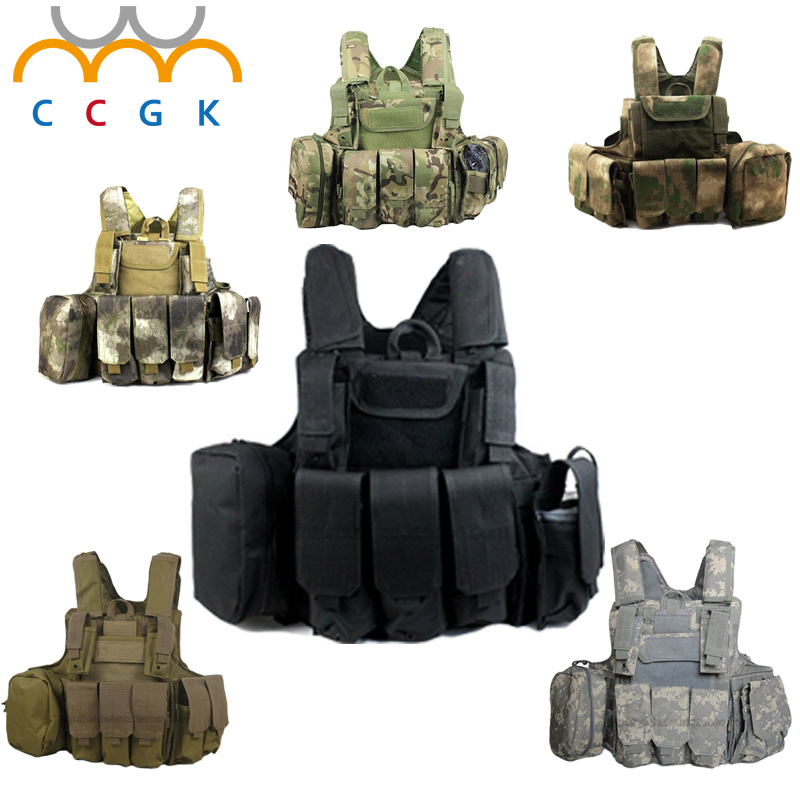 Airsoft Militar Paintball Tatico Preto Heavy Duty Molle Vest Combat Tactical Gear Vest Hunting Airsoft Paintball Protective Vest