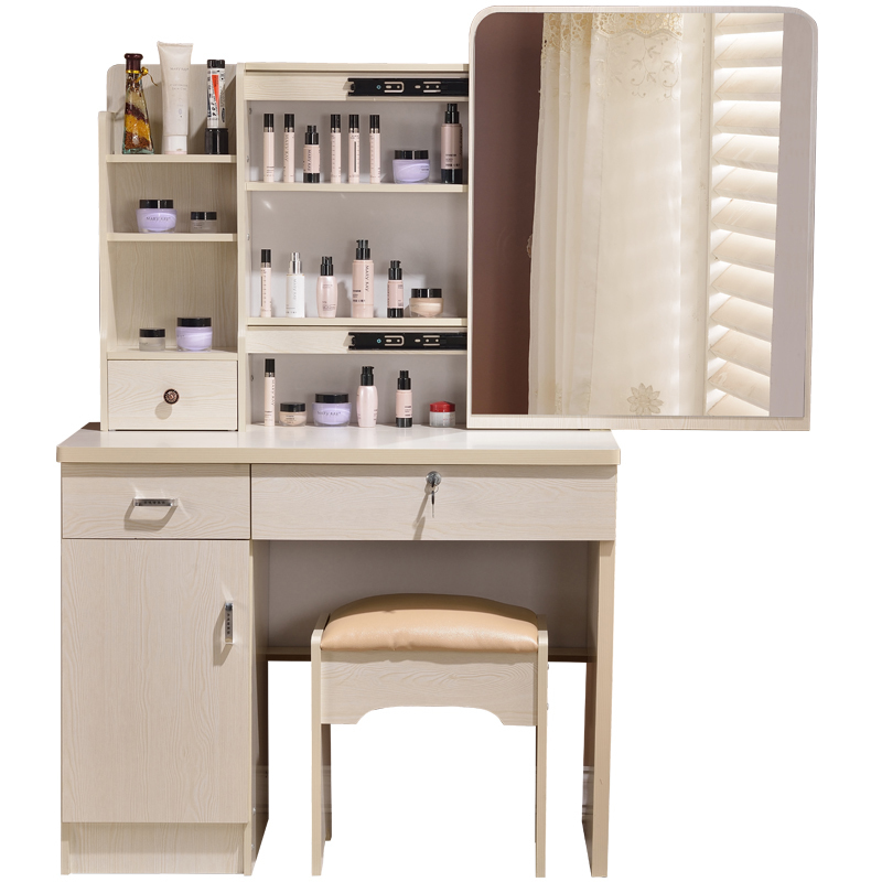 New dresser korean make-up mesa simple modern small mini-size vanity storage box Bedroom Furniture Quarto Dressing Table mini dresser make up tank mirror small dresser