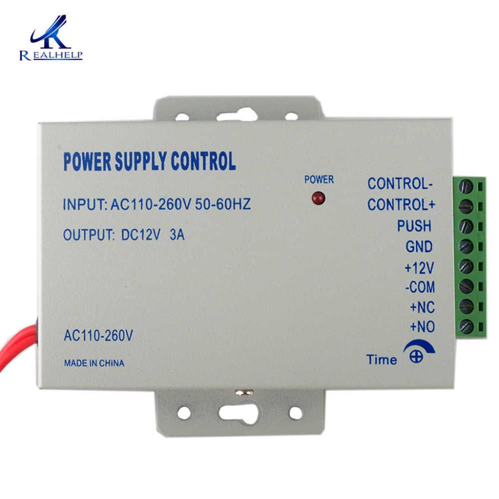 Cerradura de puerta eléctrica fuente de alimentación AC 110-240V sistema de Control de acceso Popular