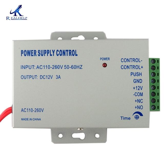 Verrouillage de porte électrique, alimentation électrique 110 240V AC, système de contrôle daccès populaire