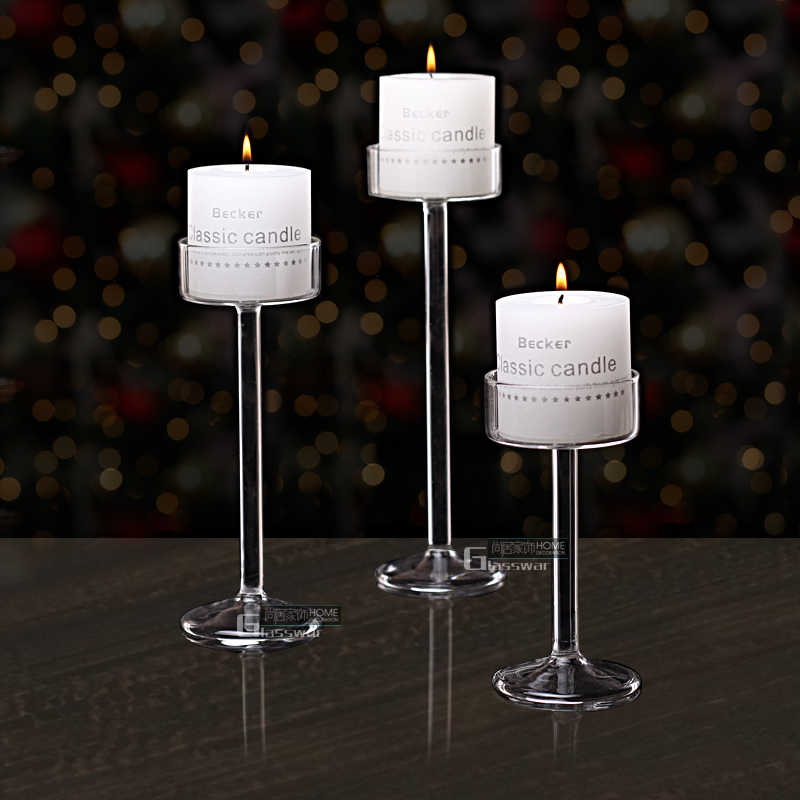 New Style 2019 fashion Classic Glass Candle Holder Wedding Bar Party Home Decor Decoration Fashion Candlesticks