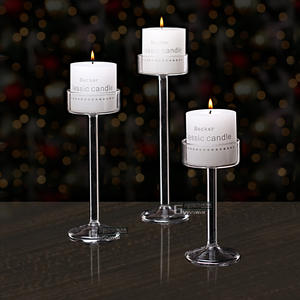 Candle-Holder Candlesticks Decoration Glass Wedding-Bar Fashion Party New-Style