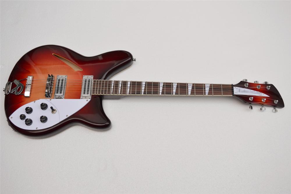 factory custom ricken 340 jazz electric guitar high quality semi hollow rick guitar r bridge. Black Bedroom Furniture Sets. Home Design Ideas