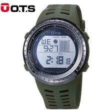 02cbe58207d Homens Esportes Militares Relógios OTS Moda 50 m À Prova D  Água LED Digital  Relógio dos homens Relógio de Pulso Relogio masculi.