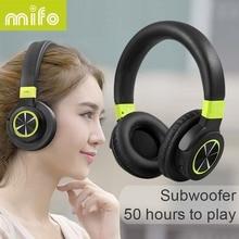mifo F2 Wireless Bluetooth Headphones 1050mah Stereo Bass Headphone Bluetooth 4.1 Headset With Mic for iphone xiaomi Computer