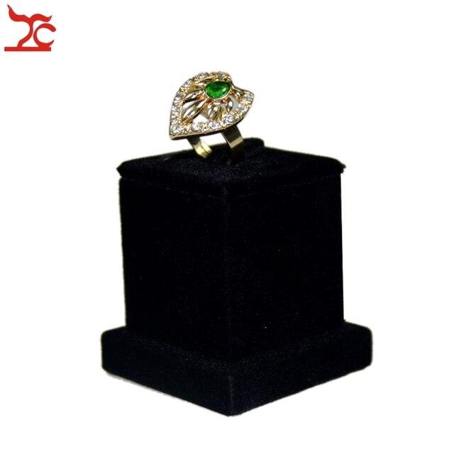Newes Wedding Jewelry Organizer Holder Black Velvet Jewelry Ring