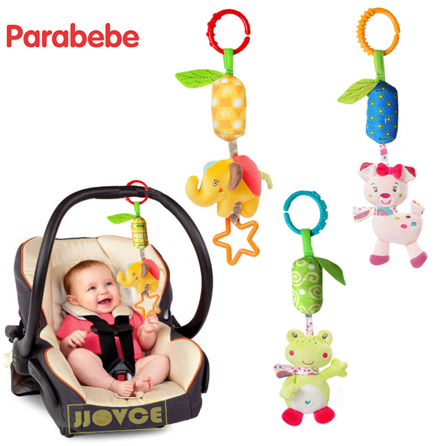 Cute Baby Stroller Accessories Hand Bell Hanging Toy For Pram Car Seat Child Bed