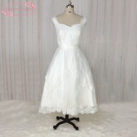 SuperKimJo Vestido De Noiva Curto Ivory Lace Cheap Wedding Dress Short A Line Simple Custom Bridal