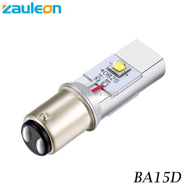 Zauleon 1pcs 1157 BA15D LED Motorcycle Headlight Bulb DC 6V 12V 930LM Motorbike head lamp Negative Ground Scooter LED Bulb