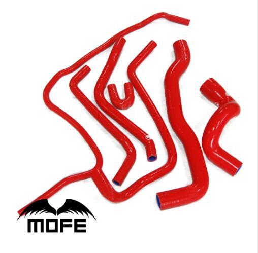 MOFE 7pcs Coolant Silicone Radiator Hose For Saab 9-3 2.0T 1998~2002 Red/Blue/Red gates 23657 coolant hose