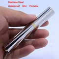 Free Shipping wholesale LED MINI Flashlight Torch CREE 300 lumens stainless steel 10440/1*AAA Rechargeable waterproof