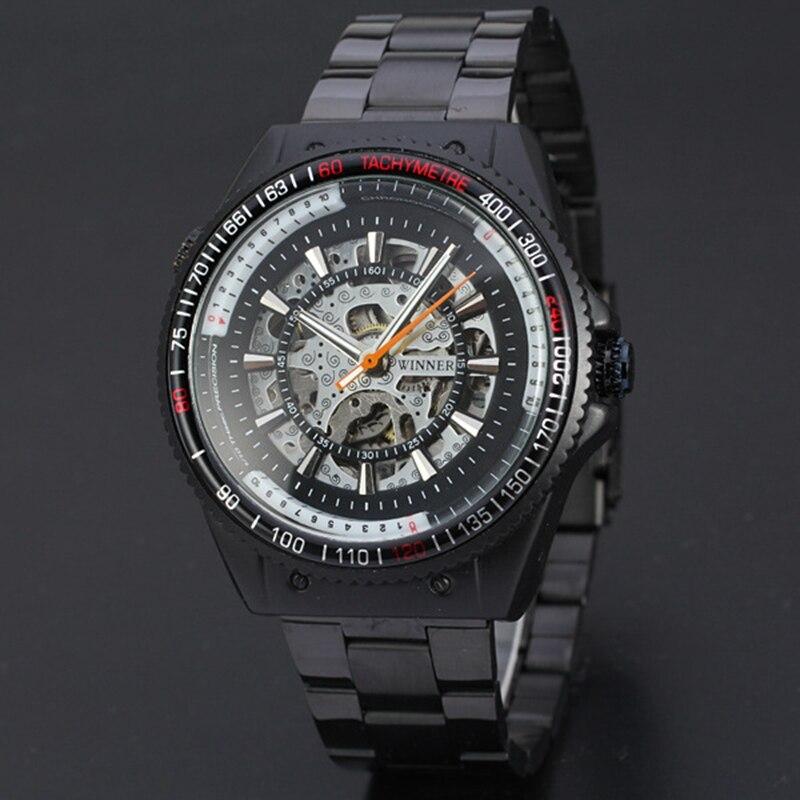 Top Brand Luxury Winner Mechanical Watches Men Fashion Skeleton Automatic Mechanical Watch Wristwatch Reloj Hombre Clock