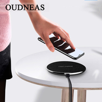 OUDNEAS 10W Quick Wireless Charger For IPhone X 8 Fast Qi Wireless Safe Charging Desktop Charging