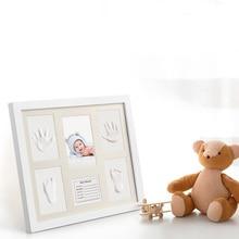 Cute Photo Frame Newborn DIY Baby Soft Clay Handprint Footprint Exquisite souvenirs Home Decoration Keepsake Gift