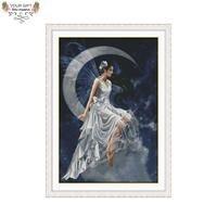 Радость воскресенье R866 (1) 14CT 11CT Счетный и печатью украшения дома луна фея наборы для вышивки крестом