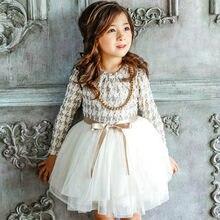 55fea8e070f88 Nouveau Filles Automne Hiver Robe avec Collier Poule Filles Princesse Robes  Enfants Vêtements Fille Enfants Parti